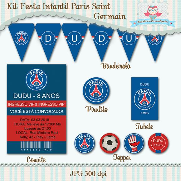 Kit Festa Infantil Paris Saint Germain Em 2019