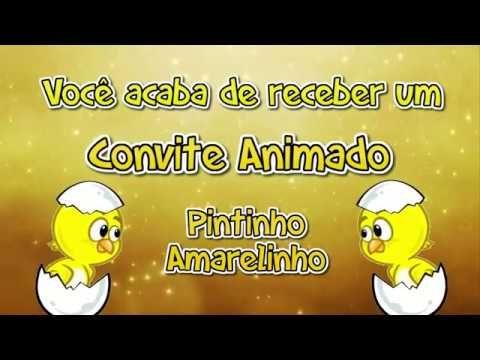 Convite Pintinho Amarelinho Tkm Convites Animados