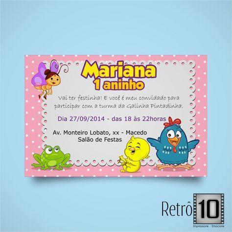 Resultado De Imagem Para Convites Galinha Pintadinha Rosa