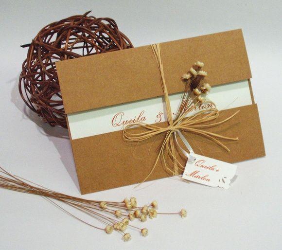 Compre Convite De Casamento Rústico No Elo7 Por R$ 4,60