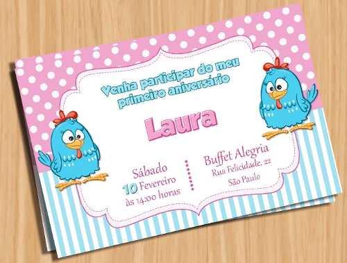 Convite Galinha Pintadinha Rosa