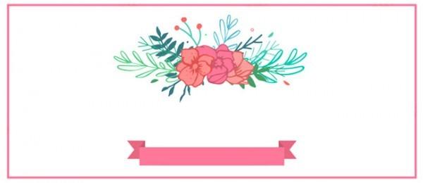 Convite De Casamento Floral E Fundo No Fundo Branco A Literatura