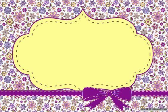 Florido Lilás E Amarelo