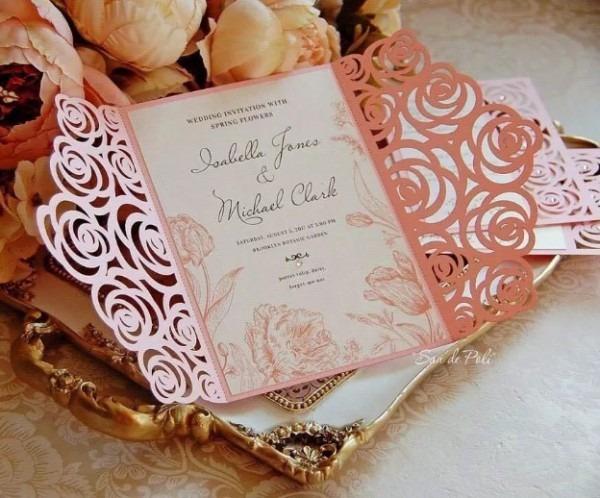 Arquivo De Corte Convite Rendado Silhouette Casamento Rosas