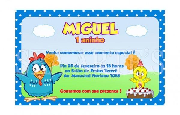 Arte Convite Digital Galinha Pintadinha No Elo7