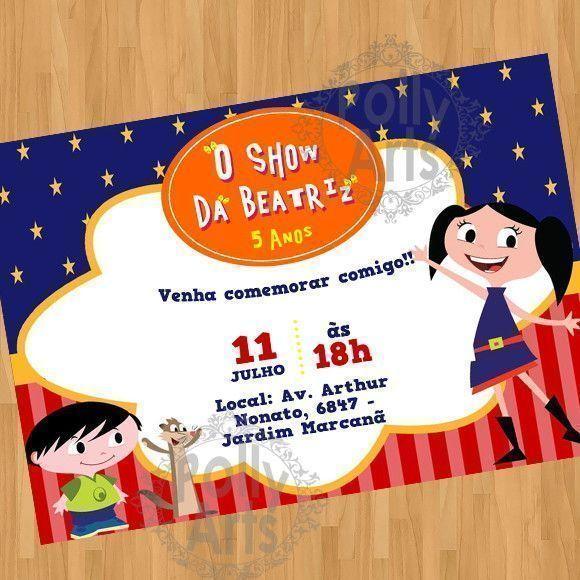 Arte Convite Digital Virtual Show Da Luna