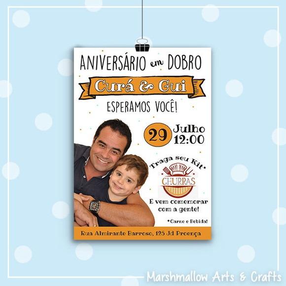 Convite Churrasco Pai E Filho