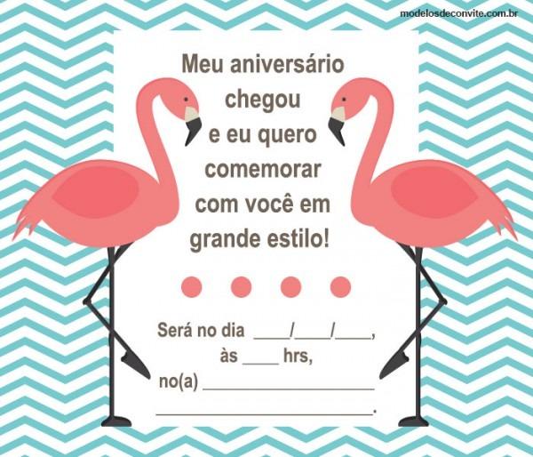 26 Convites De Flamingo Para Se Apaixonar! – Modelos De Convite