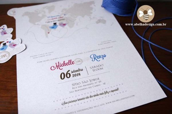 Convite Lay Out Mapa + Cartãozinho