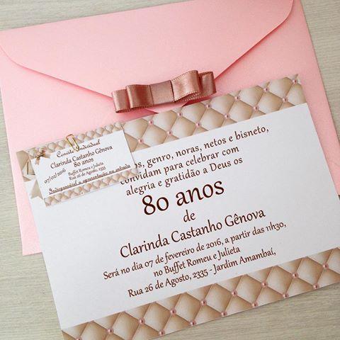 Simples E Delicado! 80 Primaveras!🌸🌼🌺🌻🌹  Convitesespeciais