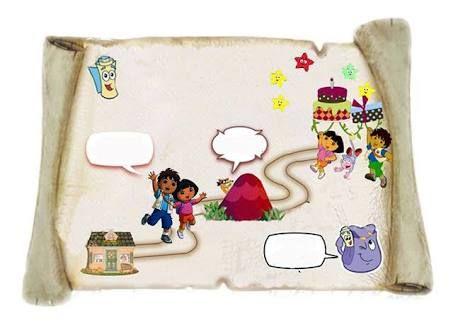 Resultado De Imagen Para Convite Mapa Dora Aventureira Para