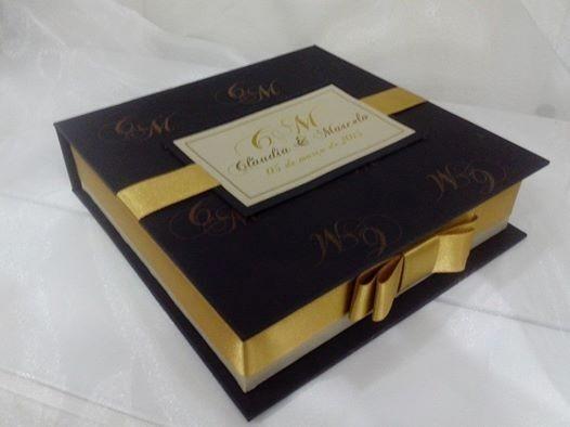 Caixa Convite Box Super Luxo Para Pais E Padrinhos R$24,99 U