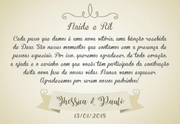 Original Frases De Agradecimento Para Padrinhos De Casamento