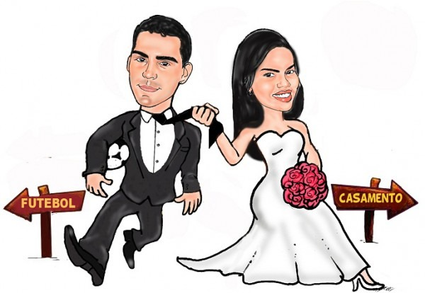 Caricatura Noivos Casamento No Elo7