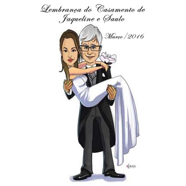 Caricaturas Convites De Casamento Preço Acessível Em Campinas