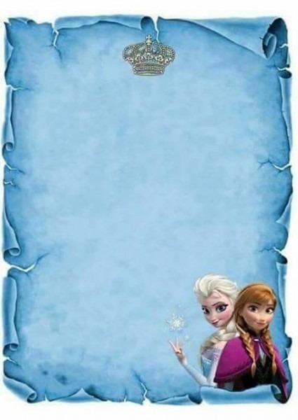 Molde De Convite Frozen …