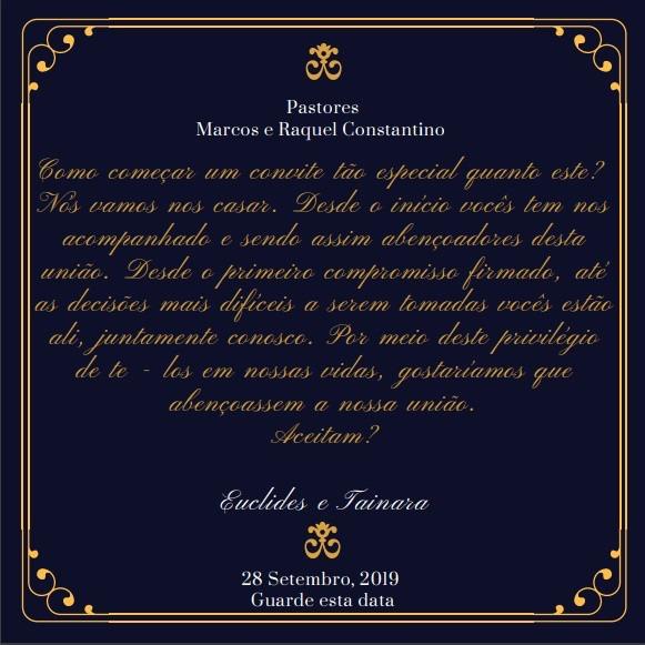 Convite Do Pastor