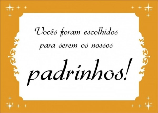 Kit Padrinhos] Arte Do Convite + Manual Dos Padrinhos