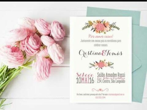 Convites De Casamento Floral