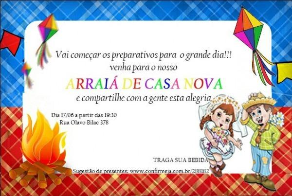 Meu Convite Do Arraiá De Casa Nova