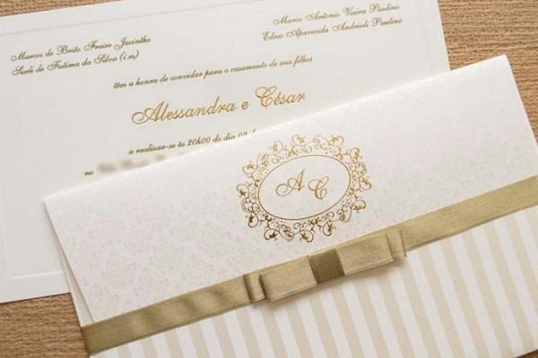 Convite De Casamento Clássico Inspiração