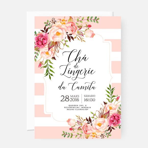 Arte Para Convite Chá De Lingerie – Camila – Studio Pomme