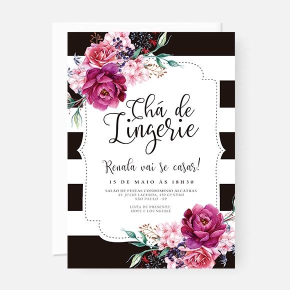Arte Para Convite Chá De Lingerie – Renata – Studio Pomme