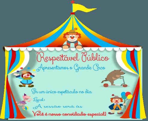 Molde De Convite Infantil