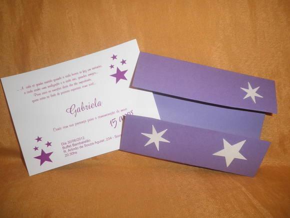 Convite 15 Anos Estrela Branca 241107 No Elo7