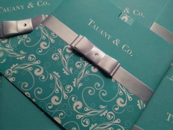 Convite 15 Anos Azul Tiffany No Elo7