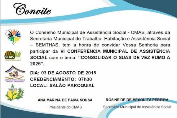Antônio Martins Em Dia  Convite Para Participar Da Vi Conferência