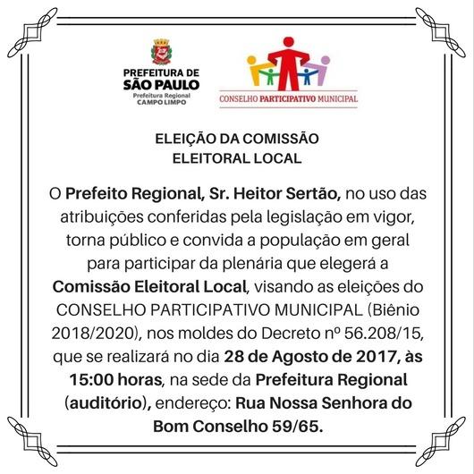 Convite  Venha Participar Da Eleição Da Comissão Eleitoral De