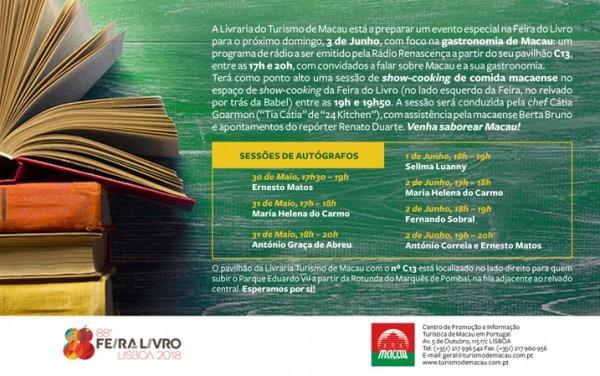 Sessenta E Nove Manuscritos  Convite Do Turismo De Macau Com