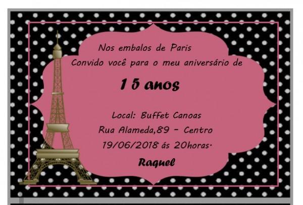 Jaques Cerimonial  Como Fazer Convite De 15 Anos Tema Paris No Word