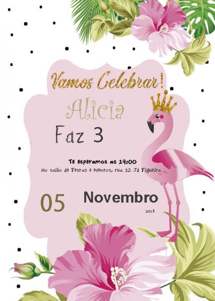 21 Convites Gratuito No Tema Flamingo E Abacaxi 🍍🌵🌸