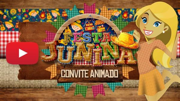 Convite Animado Festa Junina Grátis Para Baixe E Editar