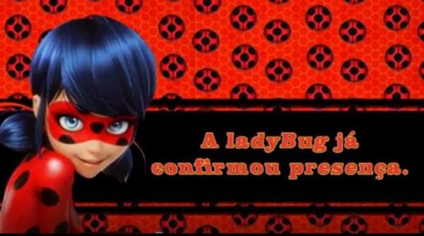 Convite Animado Ladybug No Elo7