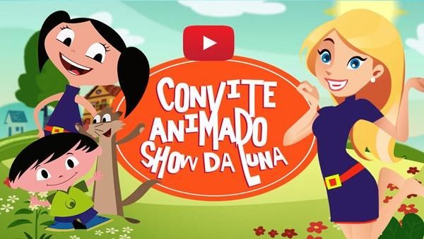 Convite Animado Virtual Show Da Luna Grátis Para Baixar E Editar