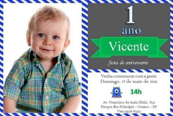 25 Convites Temáticos Para Aniversários De 1 Ano – Modelos De Convite