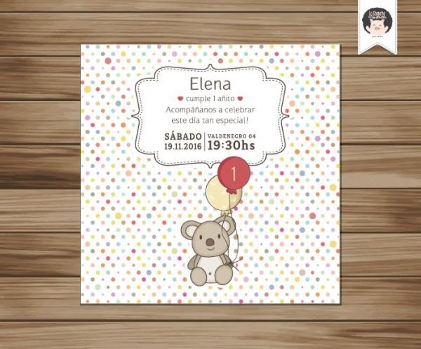Convite Aniversario 1 Ano P  Imprimir No Elo7