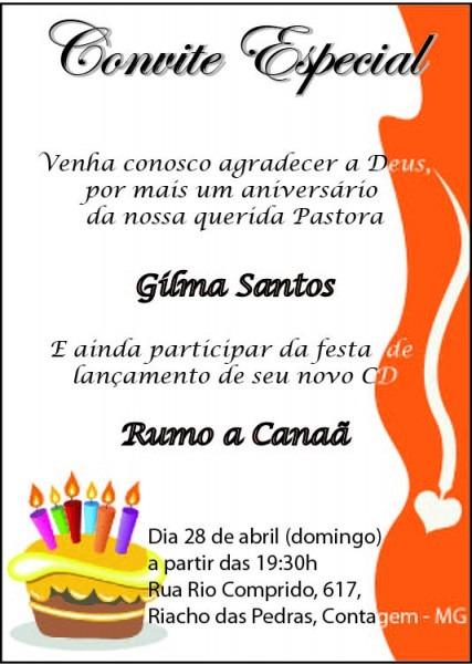 Convite Aniversario De Igreja Evangelica 3 » Happy Birthday World
