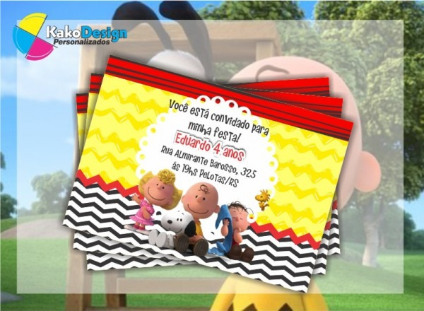 Convite Aniversario Snoopy 6 » Happy Birthday World