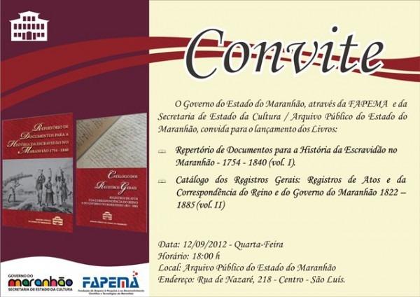 Blog Do Hugo Freitas  Convite  Lançamento De Livros No Arquivo
