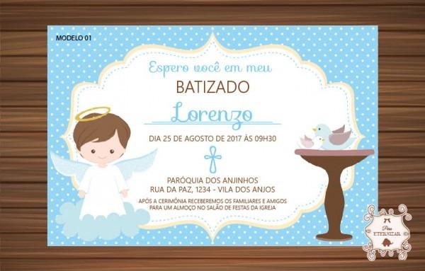 Convite Batizado Menino
