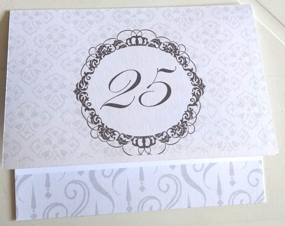 Convite Bodas Prata Cinza Arranjos10,5cm X 9cm (10 Convites)