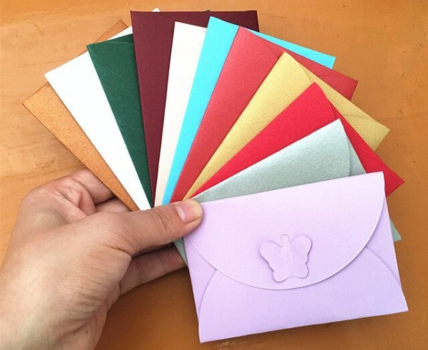 Convite Cartão Colorido Borboleta Fivela Envelopes De Papel Kraft