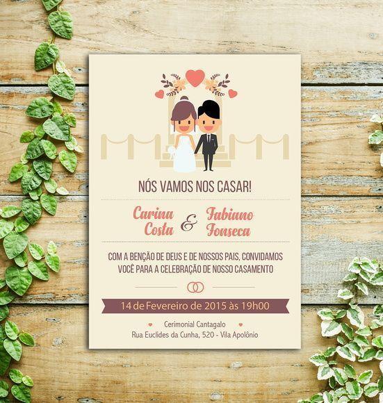 Convite Casamento Noivado Casal Arte Digital Impressão