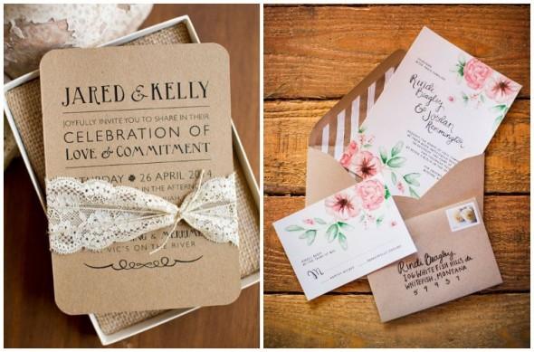 Inspire Blog – Casamentos Convites De Casamento Em Papel Craft