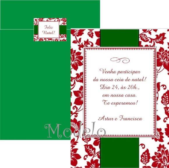Convite Ceia De Natal No Elo7