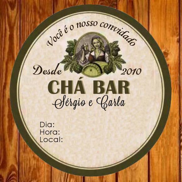 Convite Chá Bar 8 No Elo7
